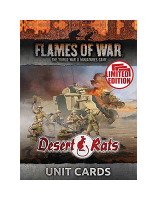 Flames Of War: Desert Rats Unit Cards (Ltd Run)