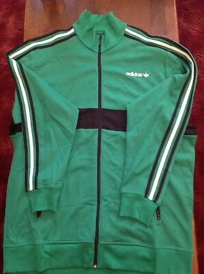 6803e6a59015 Adidas Originals Mens Vars Track Jacket Brand New With Tags Size XL  Green Black