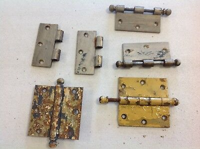 Vintage Antique Old Door Hardware Hinges Cannonball Pin Salvage Parts