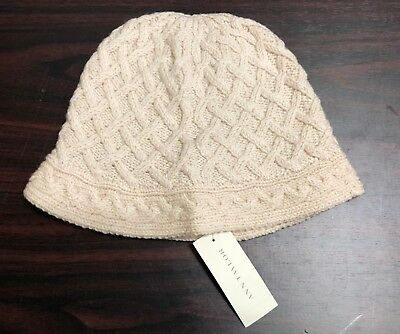 87141843e96c7 ANN TAYLOR WOMENS Hat Size OS Ivory Bucket Casual Wool Rabbit Hair ...