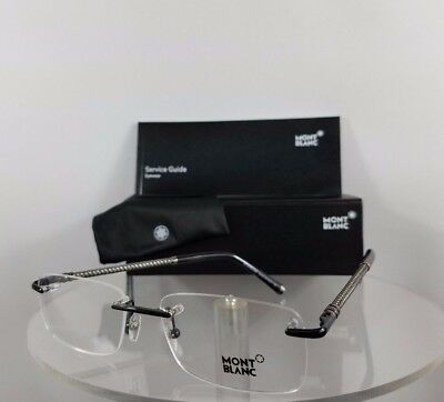 New Authentic MONT Blanc MB 391 001 Eyeglasses Black and Gunmetal MB391 Frame