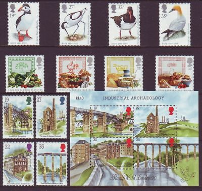 1989 All 8 Complete Commemorative Sets + M/Sheet, MNH, F/Val: £10.07 - 2 Scans