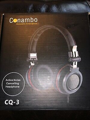Conambo CQ3 Active Noise Cancelling On Ear Foldable Headphone w/Inline Mic K31