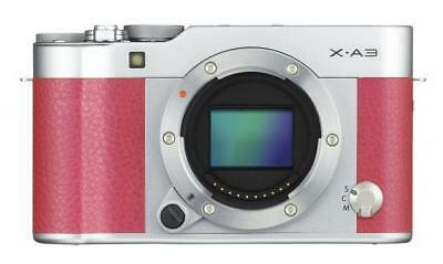 Fujifilm X-A3 Pink & Silver Body Only CSC Mirrorless Fuji Compact System Camera