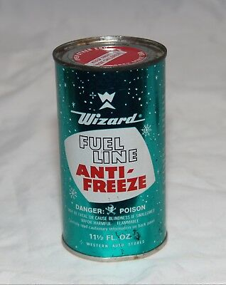 Western Auto Wizard Fuel Line Anti-Freeze Can 11.5 ounces Empty