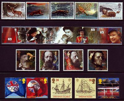 1992 All 9 Complete Commemorative Sets, MNH, Face Val: £10.92 - 2 Scans