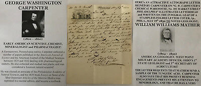 Early American Scientist Chemist Mineralogist Pharmacolgist Letter Signed 1832 !