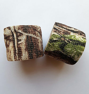 2 Rollen 4,5m x 5cm Tarnband Nr. 4 Ductape Realtree Camouflage BW Flecktarn