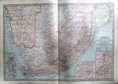 1903 Map Of Southern Africa.