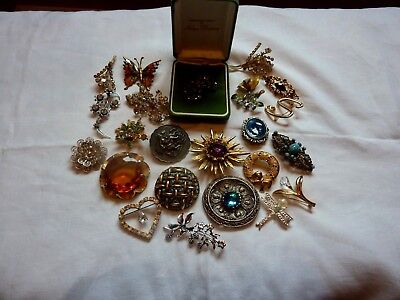 Job Lot Of Vintage Brooches Inc Norma Christina , Miracle & Exquisite