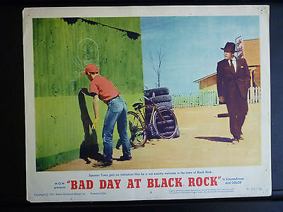 1955 Bad Day At Black Rock - 5 Lobby Cards From 1961 Release - Different Photos