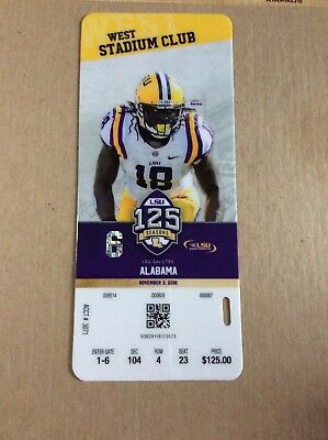 2018 LSU Ticket Stubb vs Alabama Lamin Barrow Game 6