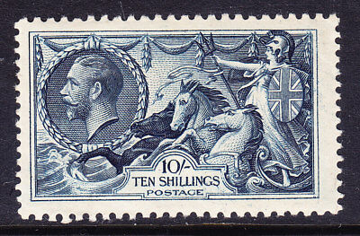GB GV SG452 1/-  indigo - re-engraved seahorse very lightly mounted mint cat£350