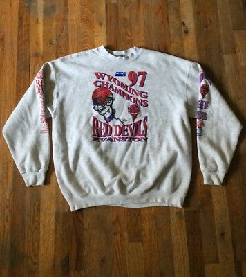 Wyoming Champions Red Devils Evanston Football Pullover Sweatshirt by Lee XL