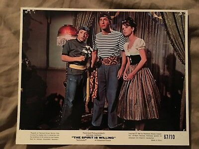 "Sid Caesar 1966 in ""The Spirit is Willing"" 8 x 10"" Color Lobby Card (2LOT)"