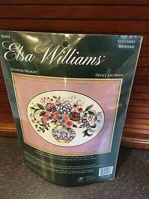 "Elsa Williams ""Jacobean Delight"" Crewel Embroidery Kit #00484 New"
