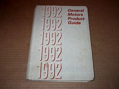 1992 General Motors Product Guide ~ Buick, Cadillac, Chevy, GM, Olds, Pontiac