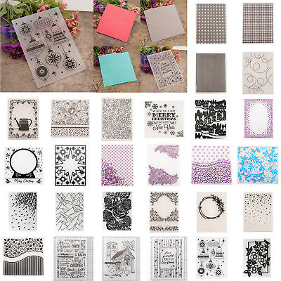 DIY Embossing Folders Plastic Template Die Cutting Scrapbooking Album Card Decor