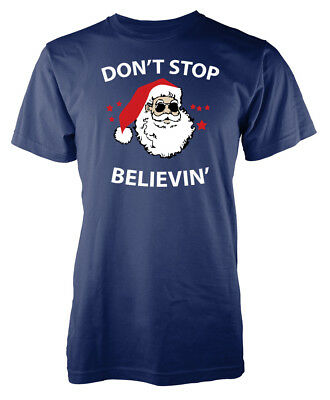 Xmas Dont Stop Believin Christmas Adult T Shirt