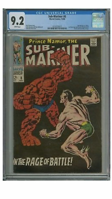 """Submariner 8 CGC 9.2 with """"White Pages """""""