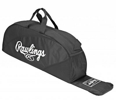 "New Rawlings Black Softball Baseball Bat Bag Helmet PMWB-B 36"" x 6.5"" x 10"""