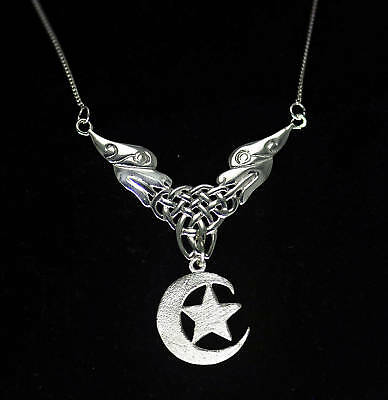 LOOK Celtic Lion tattoo symbol Irish Tribal Necklace Moon