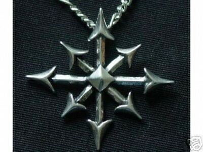 LOOK Sterling Silver .925 Gothic Chaos Magic Star chaosphere Pendant Charm Jewel