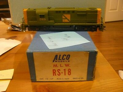 Alco Brass H.O.MLW RS-18 runs a little noisy. Needs some TLC not painted