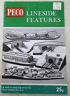 Book Peco Lineside features  23 pages 1960s