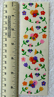 Mrs Grossman FLOWERS, MICRO - Strip of Colorful Micro Flower Stickers