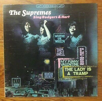 SUPREMES Sing Rodgers & Hart LP 1st stereo vinyl Motown S659 soul R&B Diana Ross