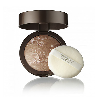 Laura Geller Baked Body Frosting in Tahitian Glow with Body Puff - Supersize NIB