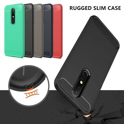 For Nokia 2.1/3.1/7.1/X6/6.1 Plus Shockproof Slim Silicone Rubber TPU Case Cover
