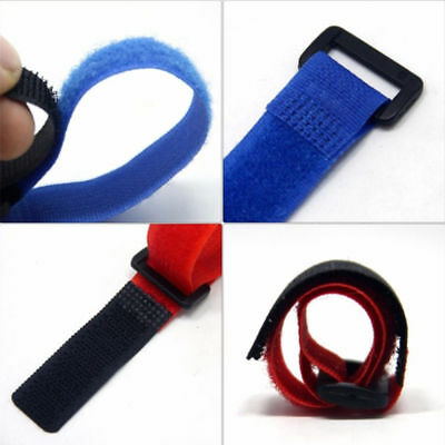 Reusable 10pcs Fishing Rod Tie Holder Strap Fastener Ties Fishing Accessories
