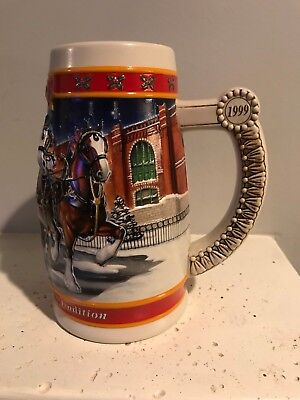Collectible Budweiser Beer Stein 1900-1999 A Century of Holiday Tradition