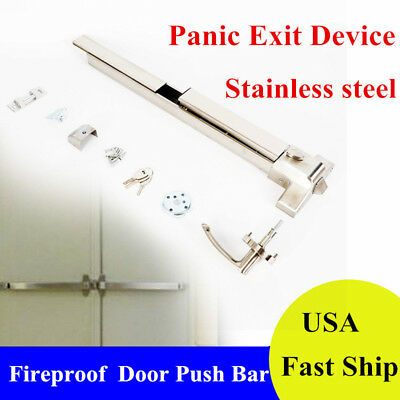 Door Push Bar-Panic Exit Device Lock With Handle Emergency Hardware Fast Safe
