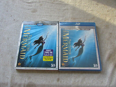 New Blu-Ray Blu-Ray 3D DVD Digital Copy The Little Mermaid Diamond Edition Seald
