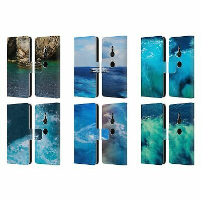 Official Haroulita Santorini Sea Leather Book Wallet Case For Sony Phones 1