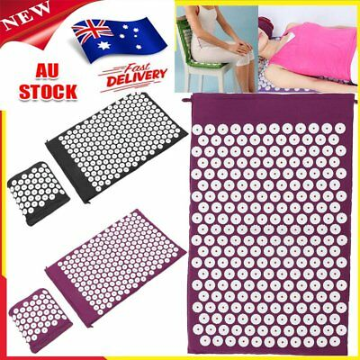Acupressure Massage Pillow Mat Yoga Bed Pilates Nail Needle Pressure Shakti NeO8