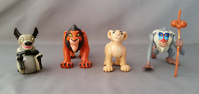 Disney The Lion King 4 Different Burger King Figures Lot Of 4