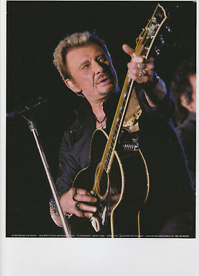JOHNNY  HALLYDAY  45  :   PHOTO de REVUE  PLASTIFIEE