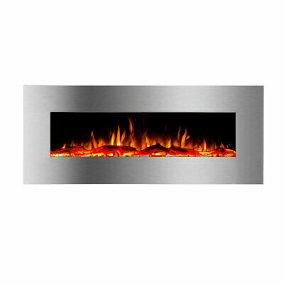 """New 1500W 50"""" Recessed Wall Mounted Electric Fireplace Flame Effect Fire Heater"""