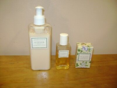 CRABTREE & EVELYN Summer Hill Scented Body Lotion 6.8 oz, Shower Gel & Soap 1.4