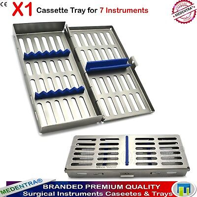 MEDENTRA® 7 Instruments Dental Surgical Sterilization Autoclave Cassette Tray X1