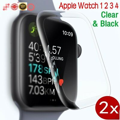 1/2X 3D Full Coverage Screen Protector Cover Apple Watch Series 4 3 2 1 iWatch ^
