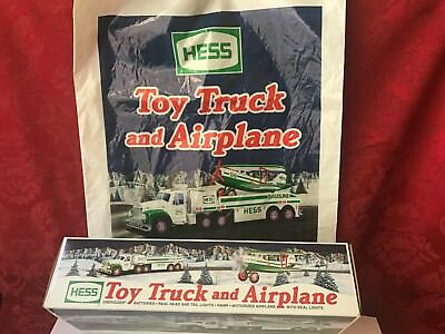 "2002 Collectible HESS ""TOY TRUCK AND AIRPLANE""-NEW IN BOX WITH RARE ORIGINAL BAG"
