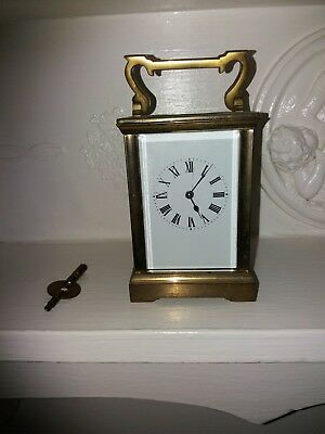 Really Old Vintage Heavy   Wind Up Carriage Clock