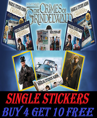 Panini Fantastic Beasts THE CRIMES OF GRINDELWALD Stickers  BUY 4 GET 10 FREE!!!