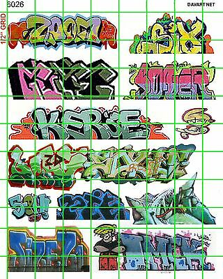6026 Dave's Decal Ho Scale Decals Boxcar Train Subway Building Walls Graffiti