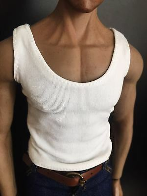 White Vest 1/6 Male Clothes Accessory Stretchy Waistcoat Model For 12'' Figure